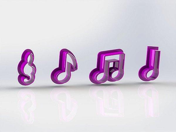 Cortador Kit Notas Musicais Mod 1
