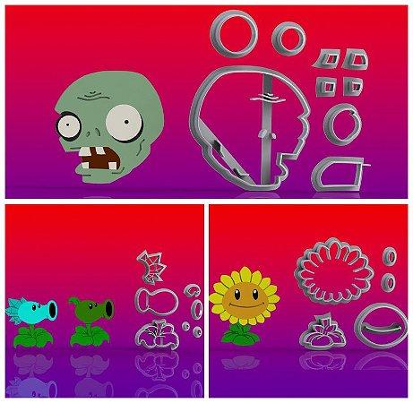 Cortador Kit Plants vs Zombies - 3 modelos Modulares