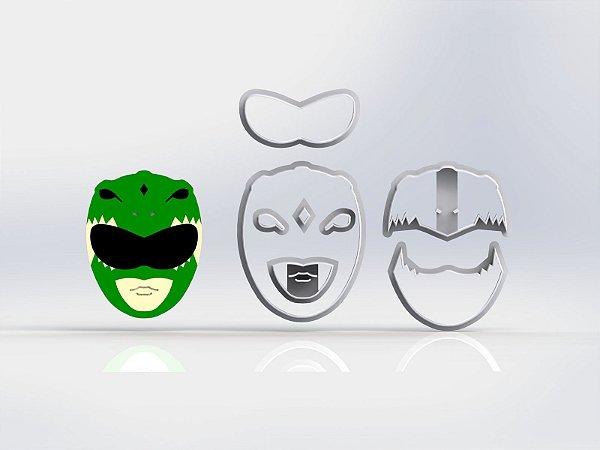 Cortador Kit Power Rangers - 2 Personagens + raio