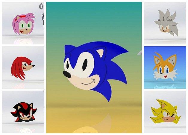 Cortador Kit Sonic e Amigos  - 7 Modelos Modulares
