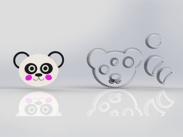 Cortador Panda Rosto Modular