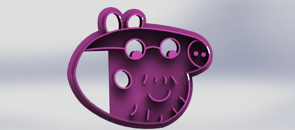 Cortador Peppa - Papai Pig