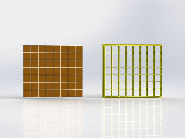 Cortador Quadradinhos 1,5 cm - 56 quadrados