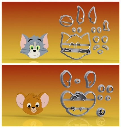 Cortador Kit Tom e Jerry Modulares