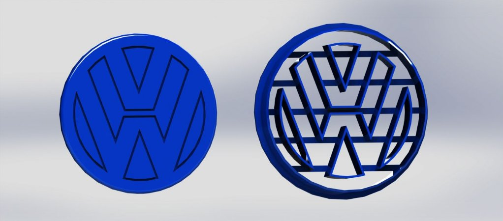 Cortador Logo Volks