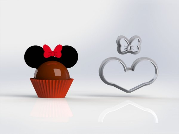 Cortador Docinho Mickey Minnie