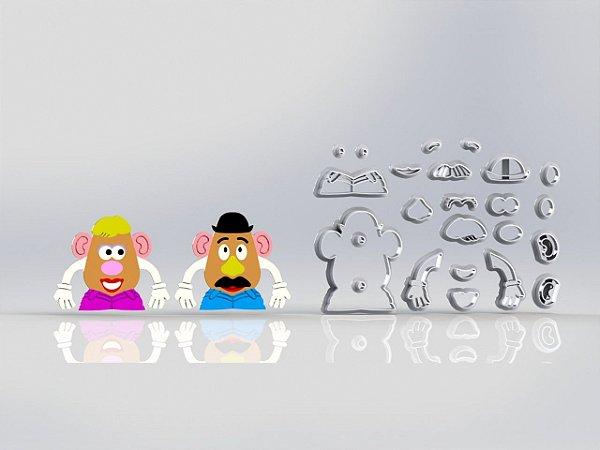Cortador Toy Story Sr Batata e Sra Batata Modular