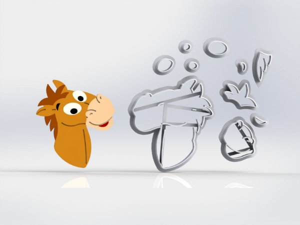 Cortador Toy Story - Cavalo Bala no Alvo Modular