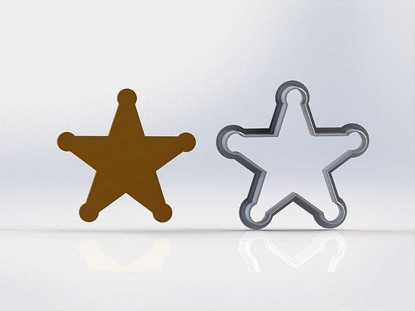 Cortador Toy Story - Estrela Xerife