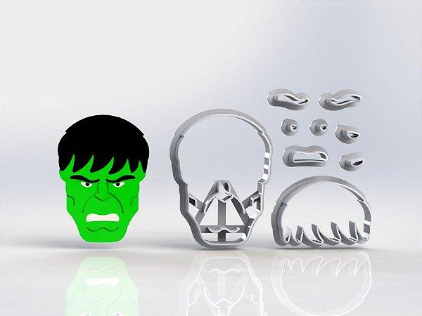Cortador Heróis - Rosto Hulk Modular