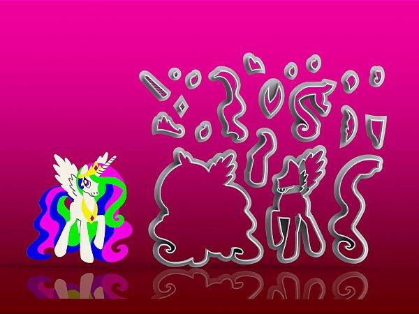 Cortador My Little Pony- Celéstia Modular