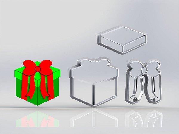 Cortador Natal Caixa de Presente Modular