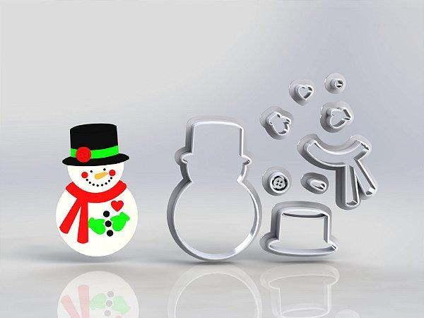Cortador Natal Boneco de Neve Modular
