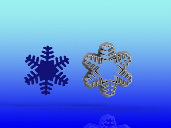 Cortador Floco de Neve - Frozen Natal