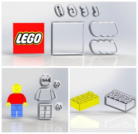 Cortador Kit Lego - 3 Modelos