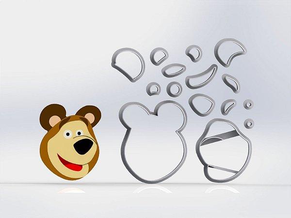 Cortador Masha e o Urso - Urso Modular