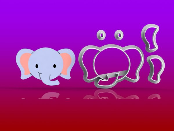 Cortador Safari - Elefante Modular