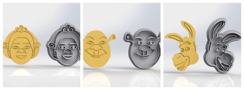 Cortador Kit Shrek - 3 Modelos (Cortadores e Marcadores)