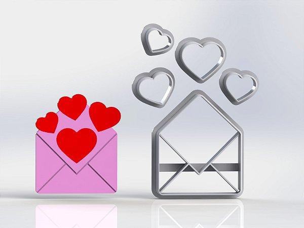 Cortador Dia dos Namorados - Carta Coração