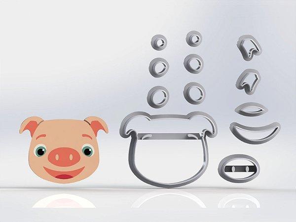 Cortador Cocomelon - Porquinho (Porco) Modular
