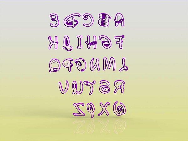 Cortador (UNIDADE) Alfabeto Disney - Letra