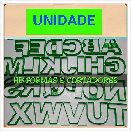 Cortador UNIDADE (Alfabeto para DONUTS)  Mod 4 - Letra