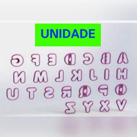 Cortador UNIDADE (Alfabeto p DONUTS Mod 2) - Letra