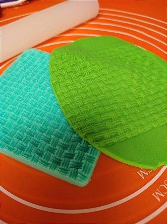 Marcador em Silicone Tecido Trama cesta trico malha