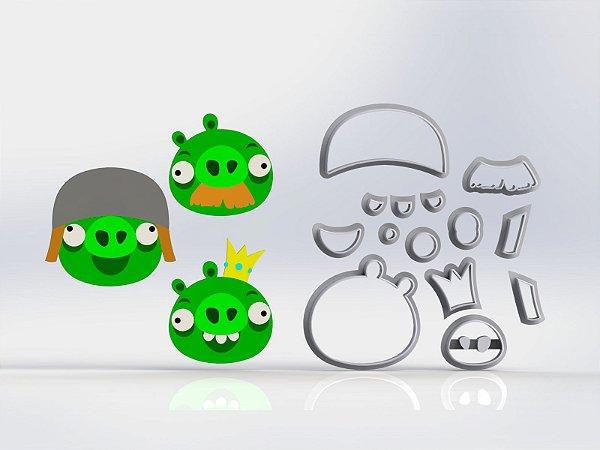 Cortadores Angry Birds - Porcos 3 Modelos Modulares