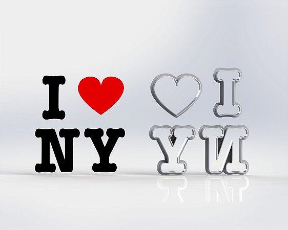 Cortador I Love NY - Viagem