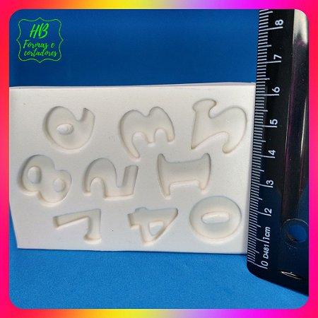 Molde silicone Numeros Com 2 Cm