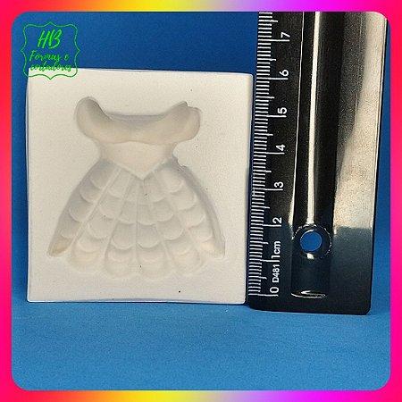 Molde silicone Vestido Bela - Princesas