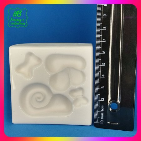 Molde silicone Caracol Laço