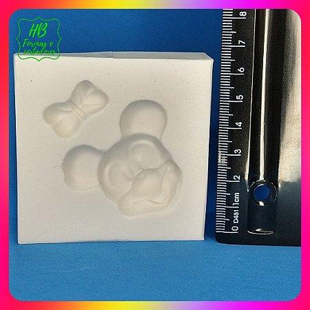 Molde silicone Cabeça Mickey Minnie 3d