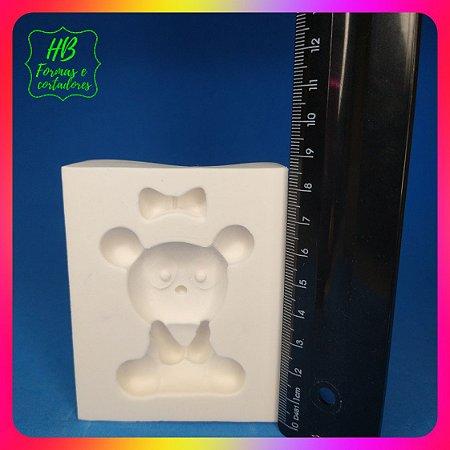 Molde silicone Panda Sentado Modelo Pranchado