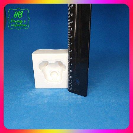 Molde silicone Fazendinha Cabeça Porquinho