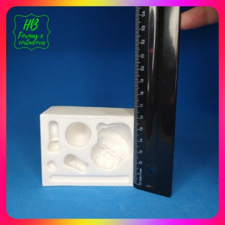 Molde silicone Papai Noel 5,5 Cm