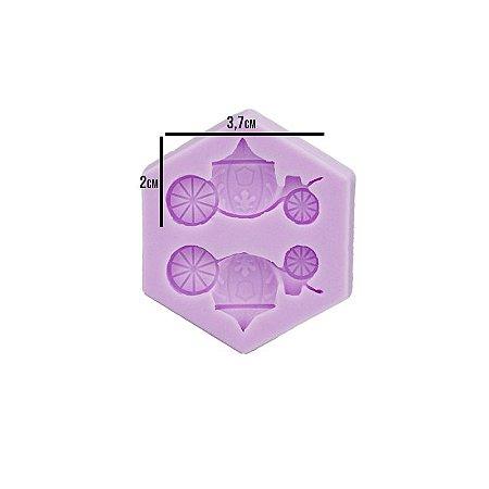 Molde Silicone Mini Carruagem Princesa