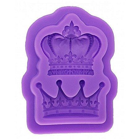 Molde Silicone Coroa Princesa Príncipe