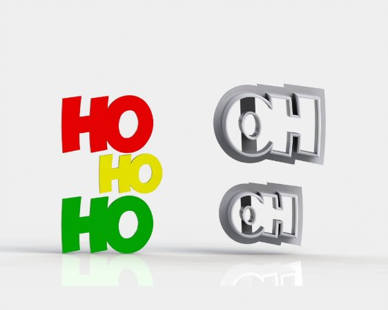 Cortador Natal Ho ho ho