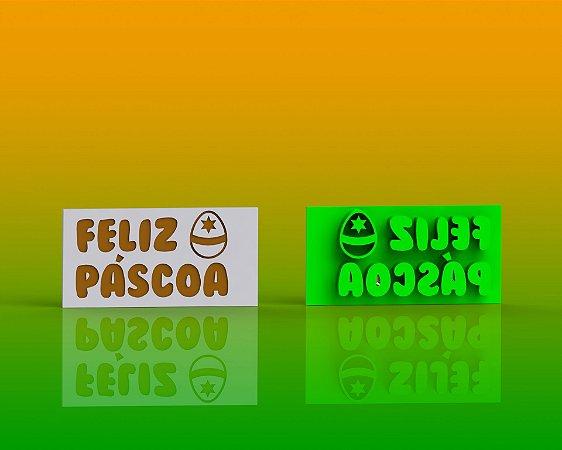 Marcador Páscoa - Placa Feliz Páscoa Mod 3
