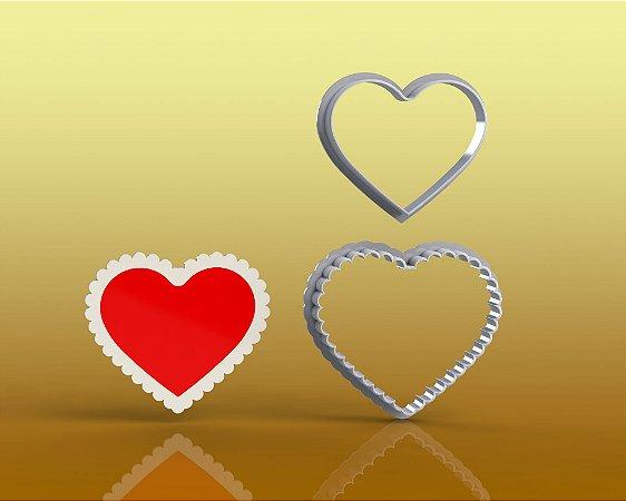 Cortador Coração Babado - Amor namorado mãe