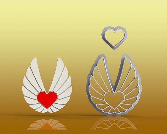 Cortador Coração com Asas