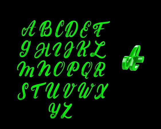 Marcador Alfabeto Letras Cursivas (Maiúsculo) Mod 1