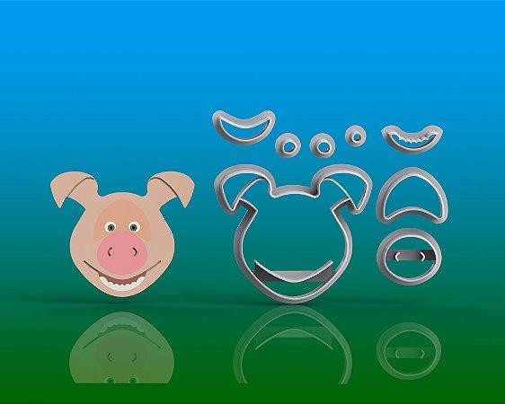 Cortador Masha e o Urso - Porco Modular