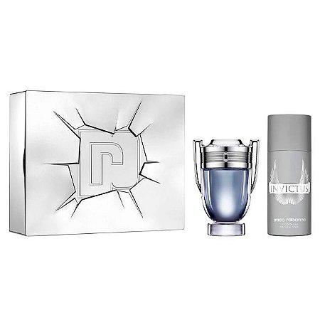 Kit Paco Rabanne Invictus Masculino - Perfume EDT + Desodorante