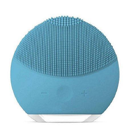Esponja Elétrica de Limpeza Facial Massageadora de Silicone Azul