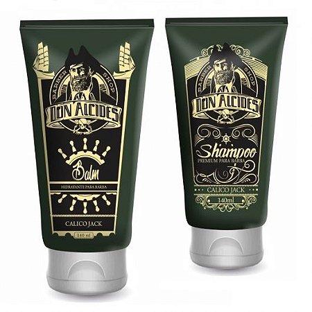 Kit Don Alcides Balm para Barba Calico Jack + Shampoo para Barba Calico Jack