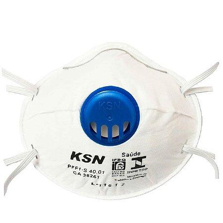 Máscara Respiratória KSN Concha c/ Válvula de Exalação (20 unids)