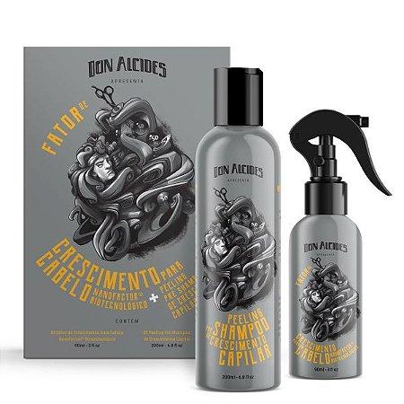 Kit Don Alcides Fator de Crescimento para Cabelo + Peeling Pré Shampoo